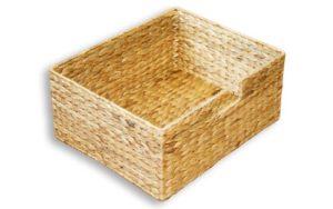 KMH Grosse Korb-Box aus geflochtener Wasserhyazinthe
