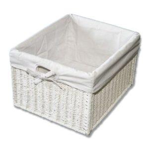 KMH, Praktische Korb-Box im Rattan-Look (weiss)