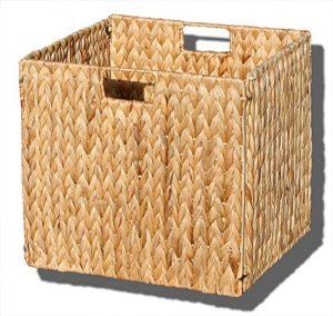 KMH, Extra grosse Korb-Box aus geflochtener Wasserhyazinthe